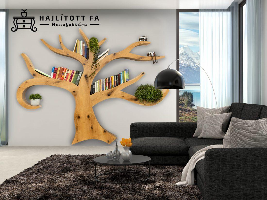 Fa alakú polc, fa formájú design könyvespolc készítése