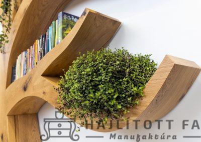 Fa formájú design könyvespolc