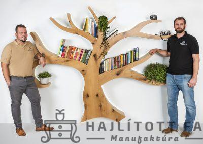 egyedi fa alakú könyvespolc